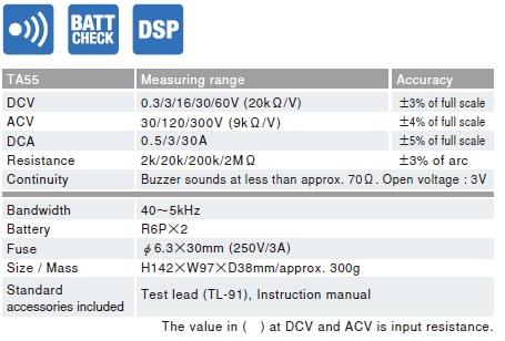 Sanwa TA55 Analog Multitester For Automotive